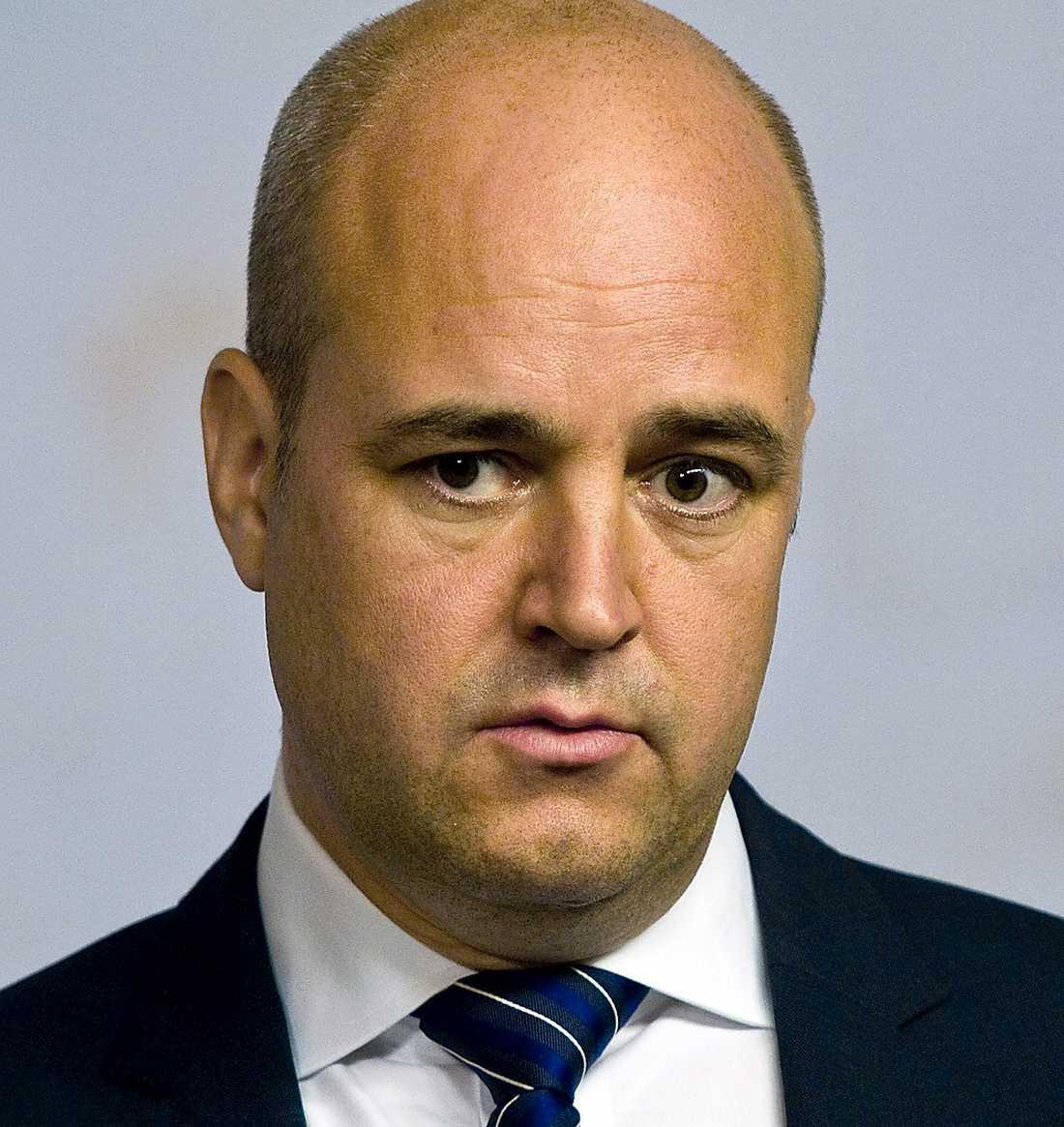 Fredrik Reinfeldt (M), statsminister.
