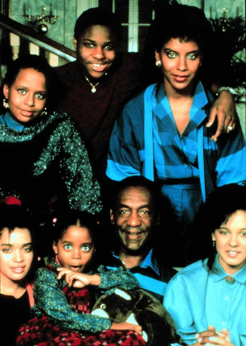 Familjen Cosby 1984 – med Lisa Bonet längst ned till vänster.