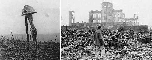 Från döden i skyttegravarna 1914 till bomben över Hiroshima 1945.