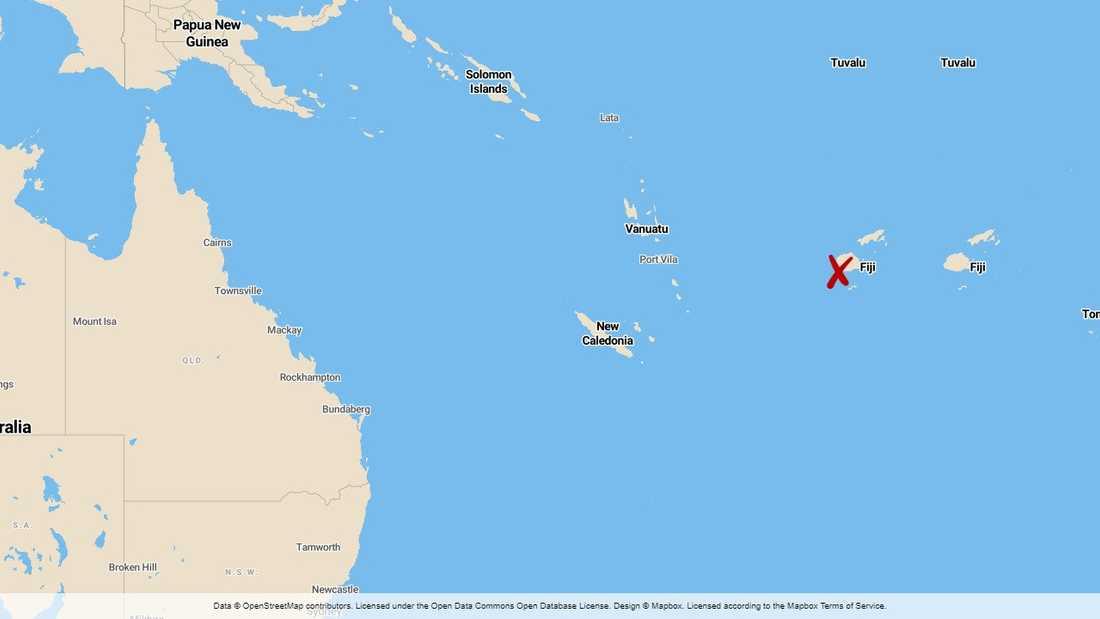 Orkanen Harold har nått Fiji.