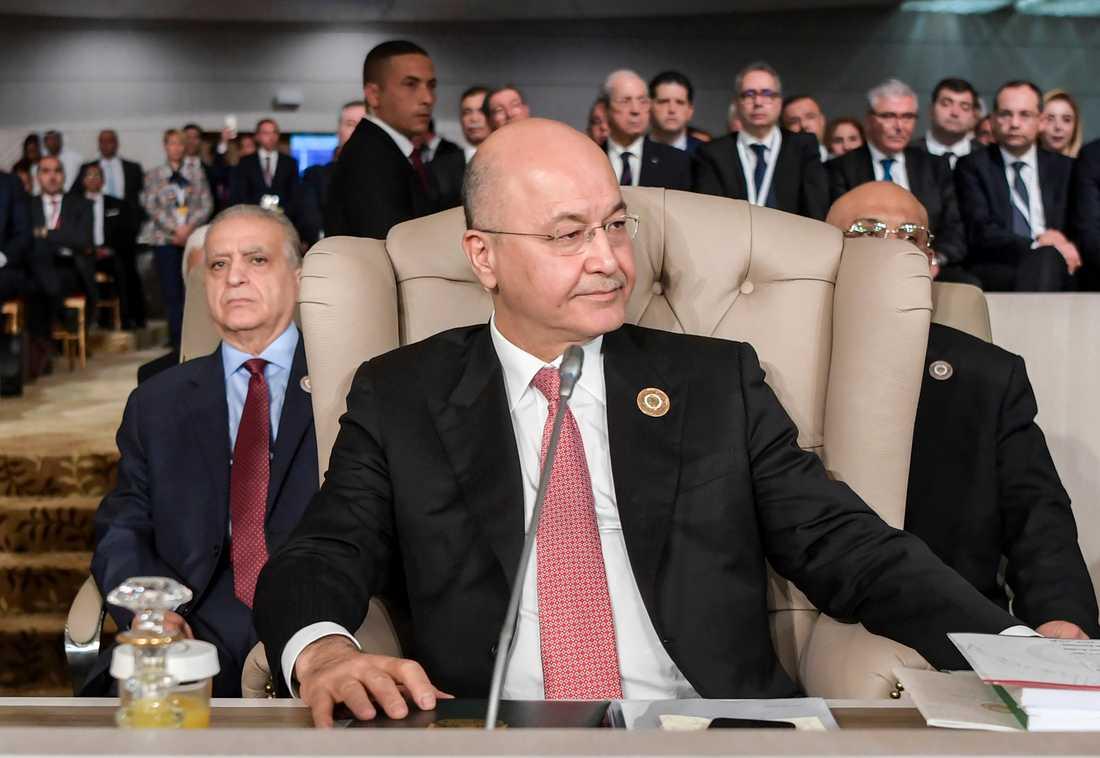 Iraks president Barham Saleh har utsett en premiärminister för tredje gången i år. Arkivbild.