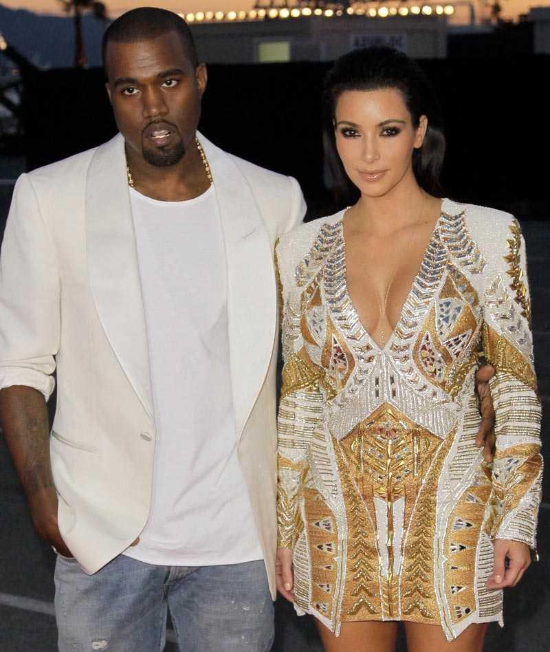 Kanye West och hans flickvän Kim Kardashian.