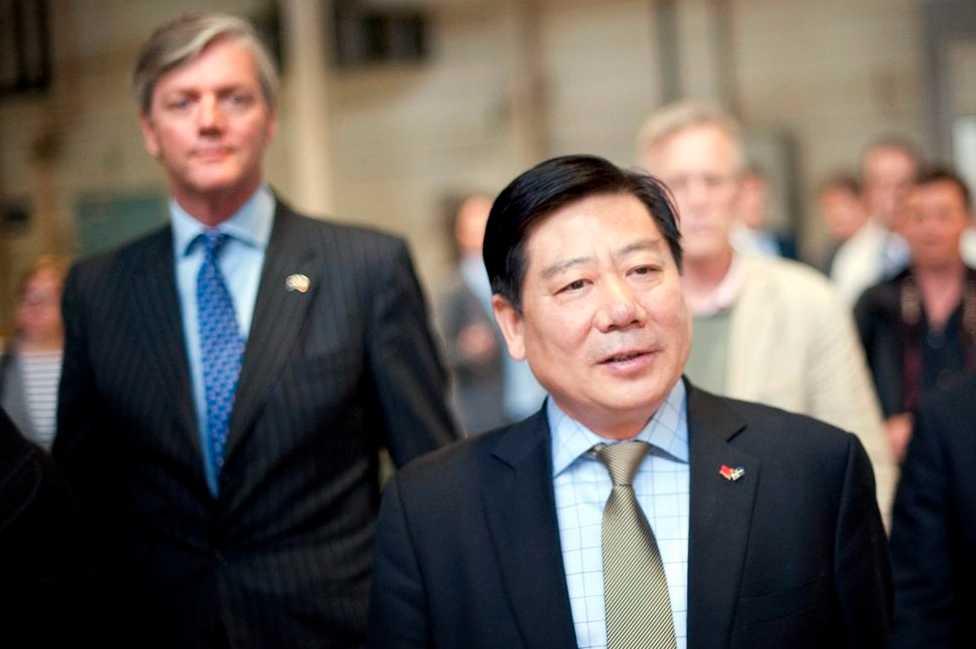 Victor Muller och Pang Qinghua, vd för Pang Da. (Arkivbild.)