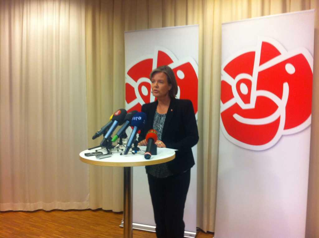 Jämtin vid onsdagskvällens pressträff på Sveavägen 68 i Stockholm.