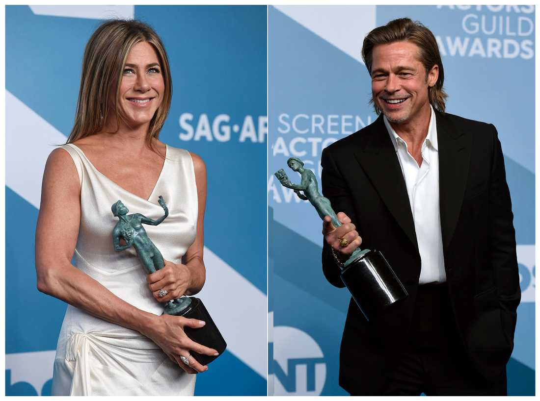 Jennifer Aniston och Brad Pitt.