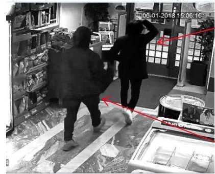 Mannen fångades på övervakningskamera