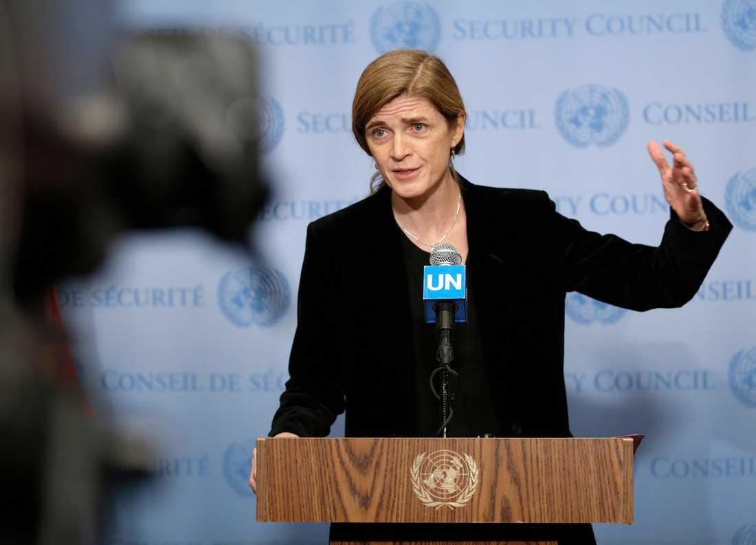 USA:s tilltänkta biståndschef, den förra FN-ambassadören Samantha Power. Arkivbild.
