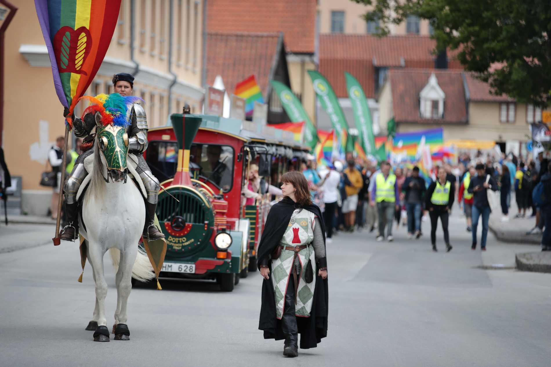 Mångfaldsparaden under Almedalsveckan. Arkivbild.