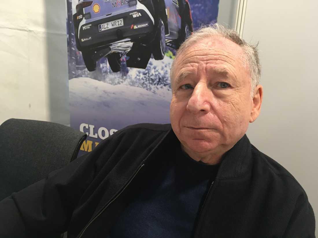 """""""Rally Sweden måste vara på snö. Det kommer inte att ske igen. Det är allt jag säger"""", säger Jean Todt, ordförande i Internationella bilsportförbundet Fia."""