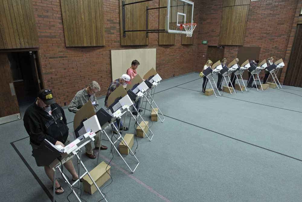 Amerikaner som röstar i Salt Lake City.