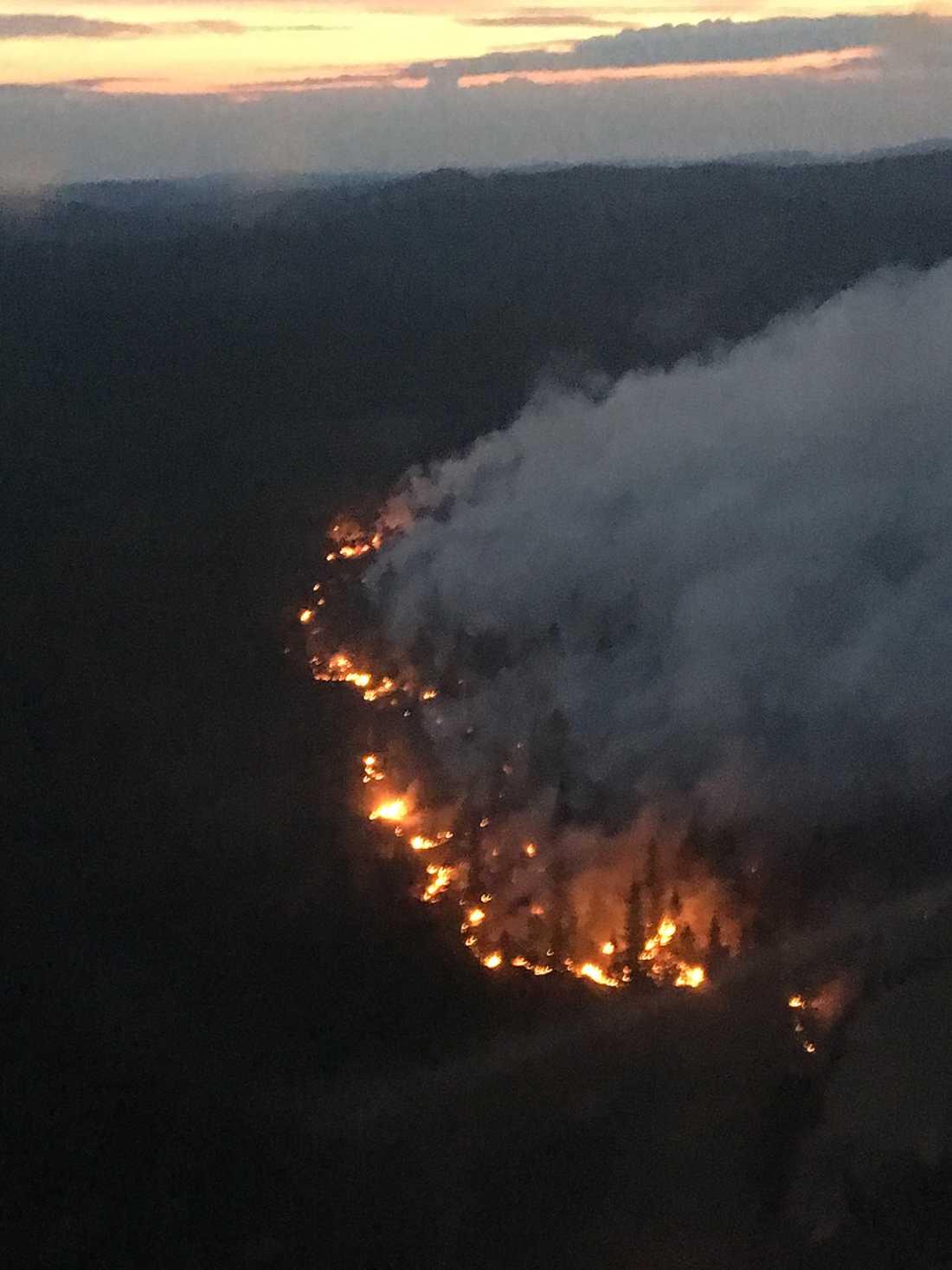 Brand i Möckelsjöberget på fredagen.