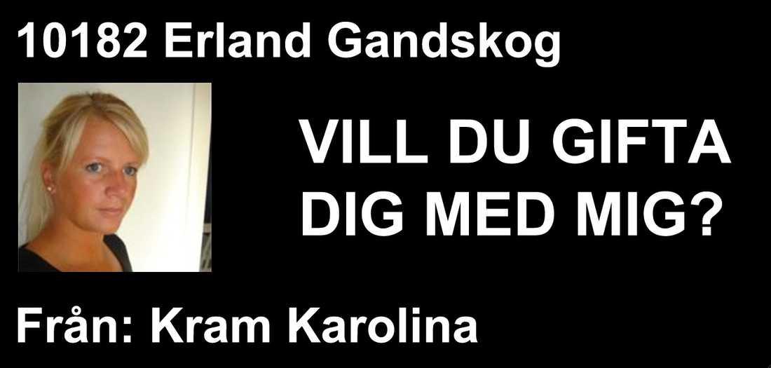 Frieriet När Erland Gandskog stod vid starten vid halv åtta-tiden i morse dök det här budskapet upp på skärmen.
