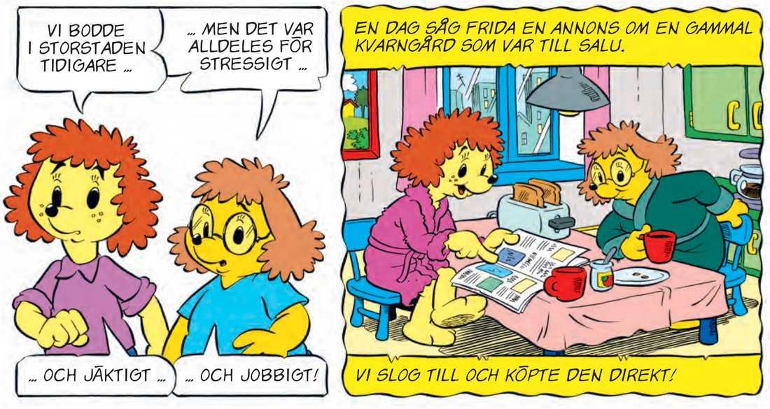 Frida och Vera dyker upp i sommarnumret av Bamsetidningen.