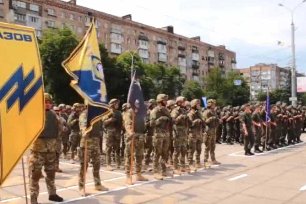 Azovbataljonen från Ukraina.
