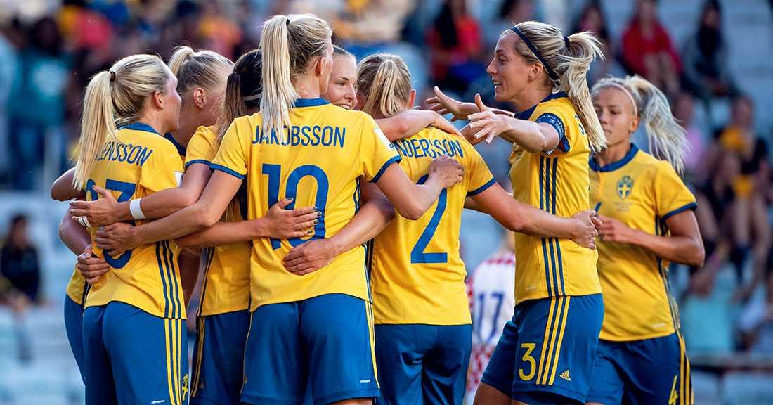Fotbolls-VM 2019 dam · Sveriges grupp · Schema · Tv-tider  7fb598b6fa783