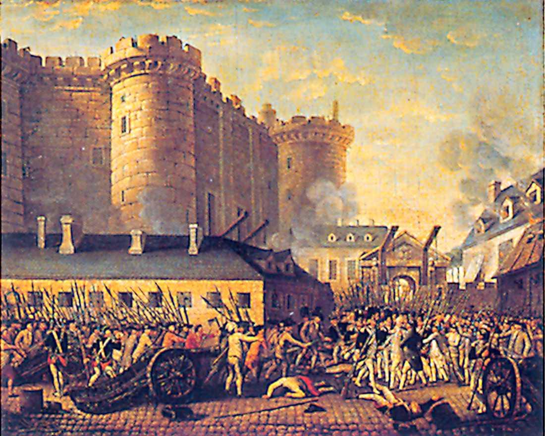 Stormningen av Bastiljen. Samtida målning.