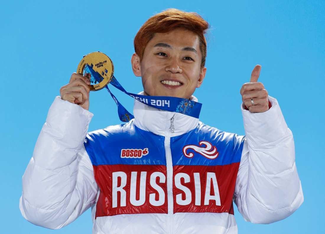 Skridskostjärnan och OS-guldmedaljören Viktor Ahn överklagar sin avstängning för att få vara med i OS i Pyeonchang. Arkivbild.