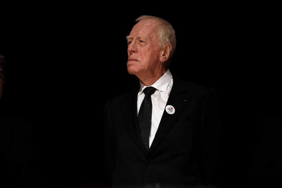 Skådespelaren Max von Sydow tilldelas Stockholm Lifetime Achievement award på Stockholms filmfestival. Arkivbild.