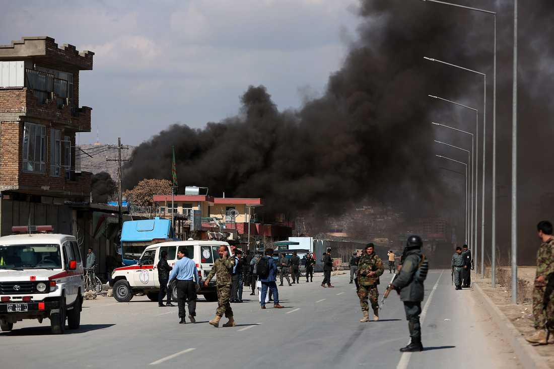 Självmordsbomb i Kabul, Afghanistan, i mars i år.