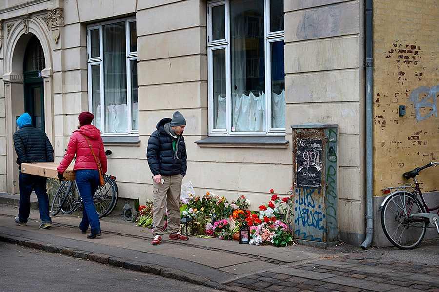 Platsen där 22-åringen sköts ihjäl i Köpenhamn.