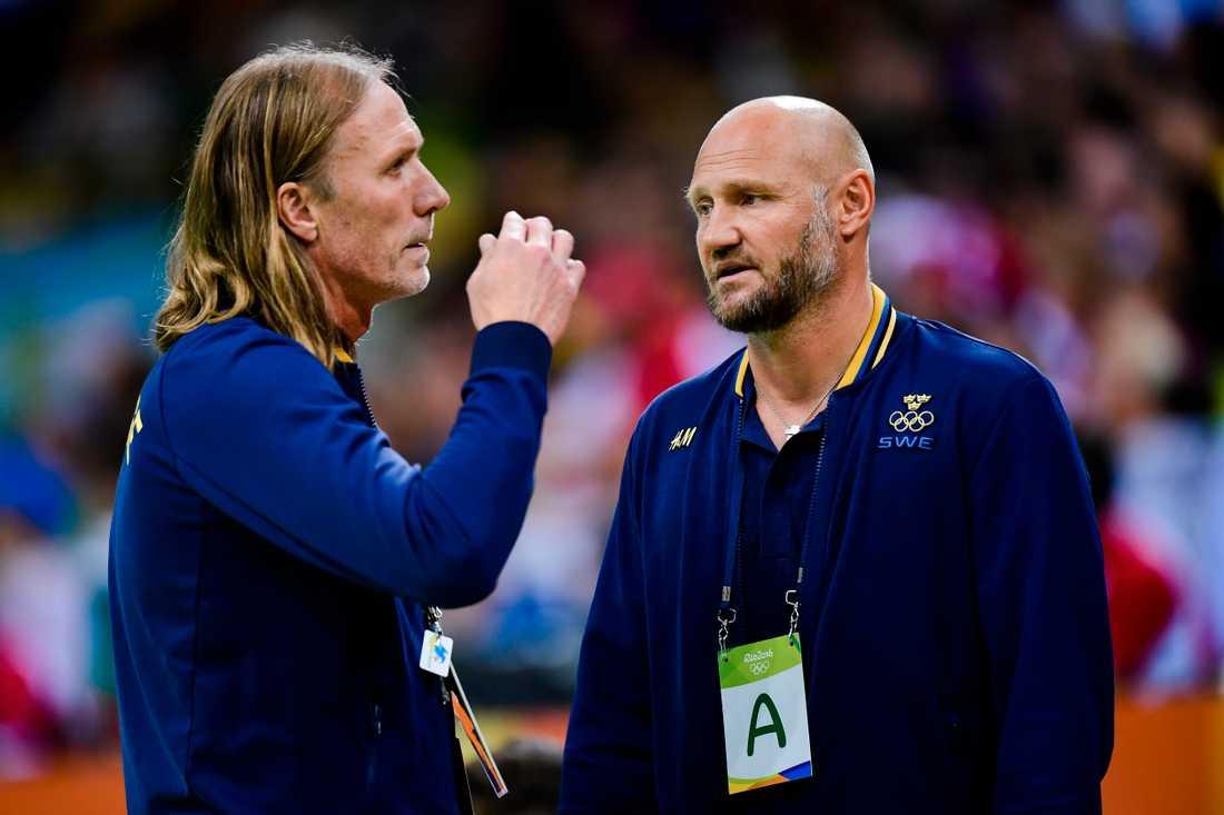 Staffan Olsson och Ola Lindgren i landslaget under OS 2016