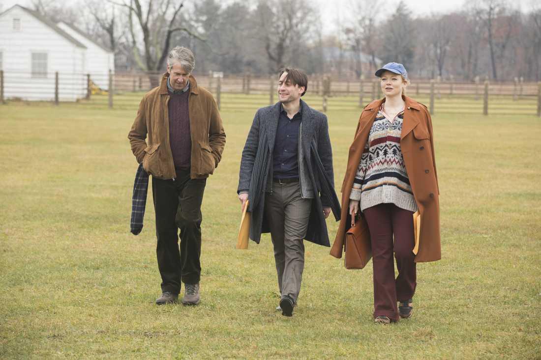 Connor (Alan Ruck), Roman (Kieran Culkin) och Siobhan/Shiv (Sarah Snook).