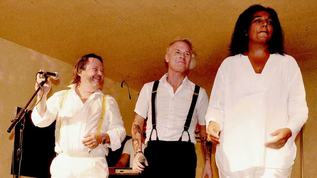 Tommy Ekman, Christer Sandelin och Gigi Hamilton.