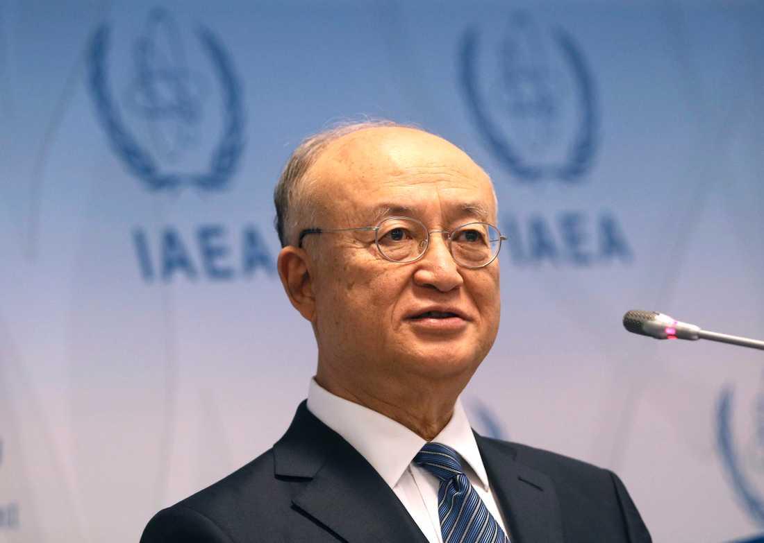 Yukiya Amano, generaldiektör för IAEA. Arkivbild.