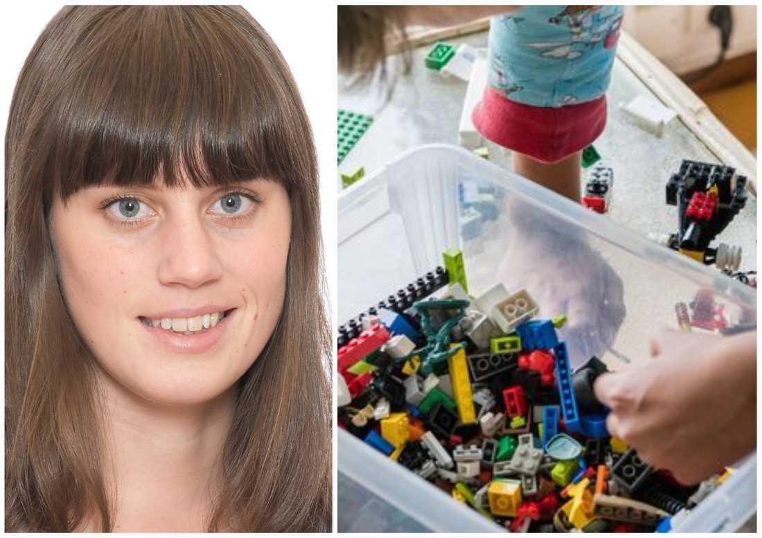 Frida Ramström på Kemikalieinspektionen avråder inte från lek med gamla legobitar trots forskarrapporten.