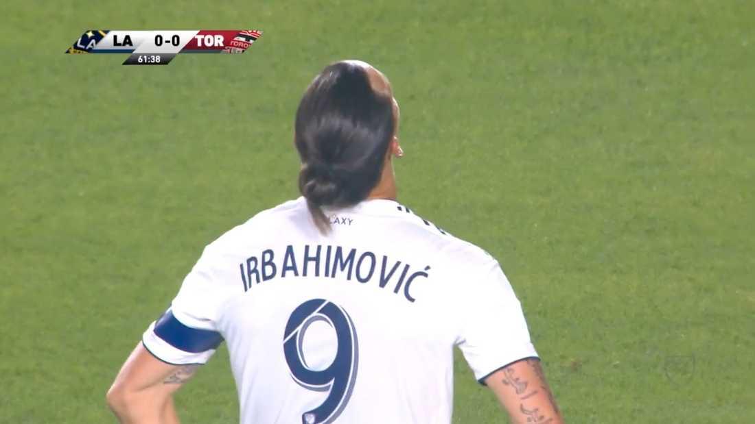 Zlatan döptes om till Irbahimivic på LA Galaxys tröja.