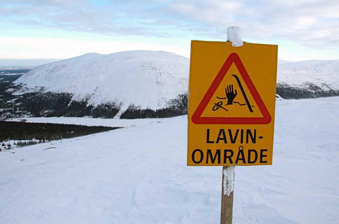 Det råder stor lavinfara i fjällen. Bilden från Bydalen i Jämtland vid ett tidigare tillfälle.
