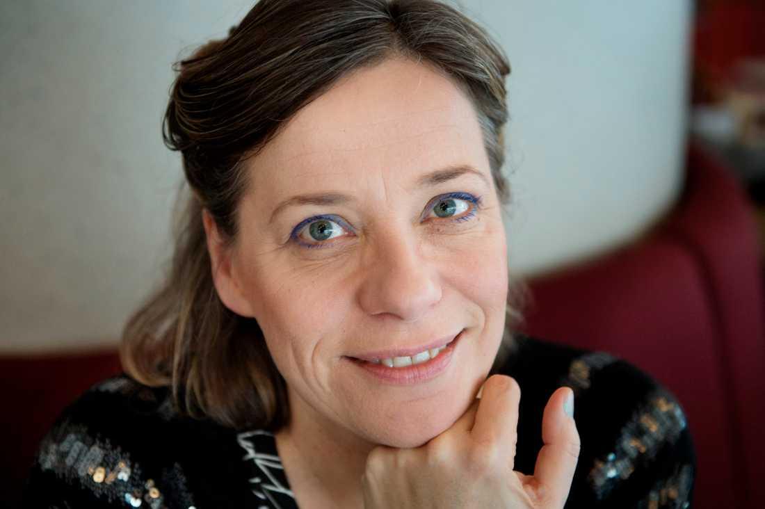 Lina Nyberg, jazzsångerska och ordförande i Föreningen Sveriges jazzmusiker. Arkivbild.