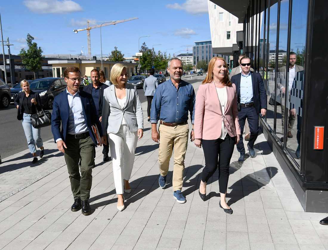 Ulf Kristersson, Ebba Busch Thor, Jan Björklund, Annie Lööf.