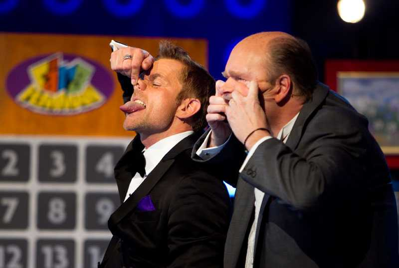 Rickard Olsson och Lasse Kronér firar Bingolotto 20 år.