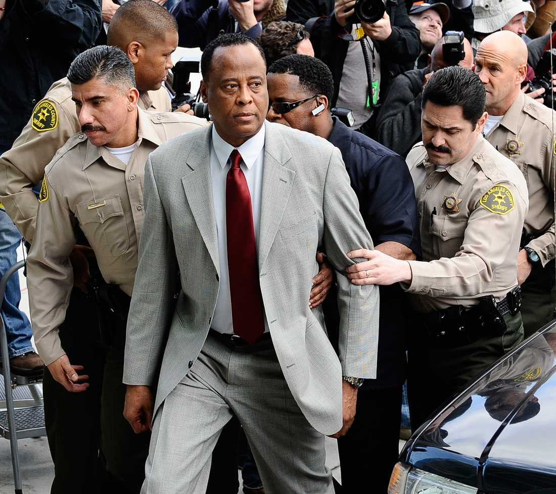 Murray under rättegången efter Michael Jacksons död.