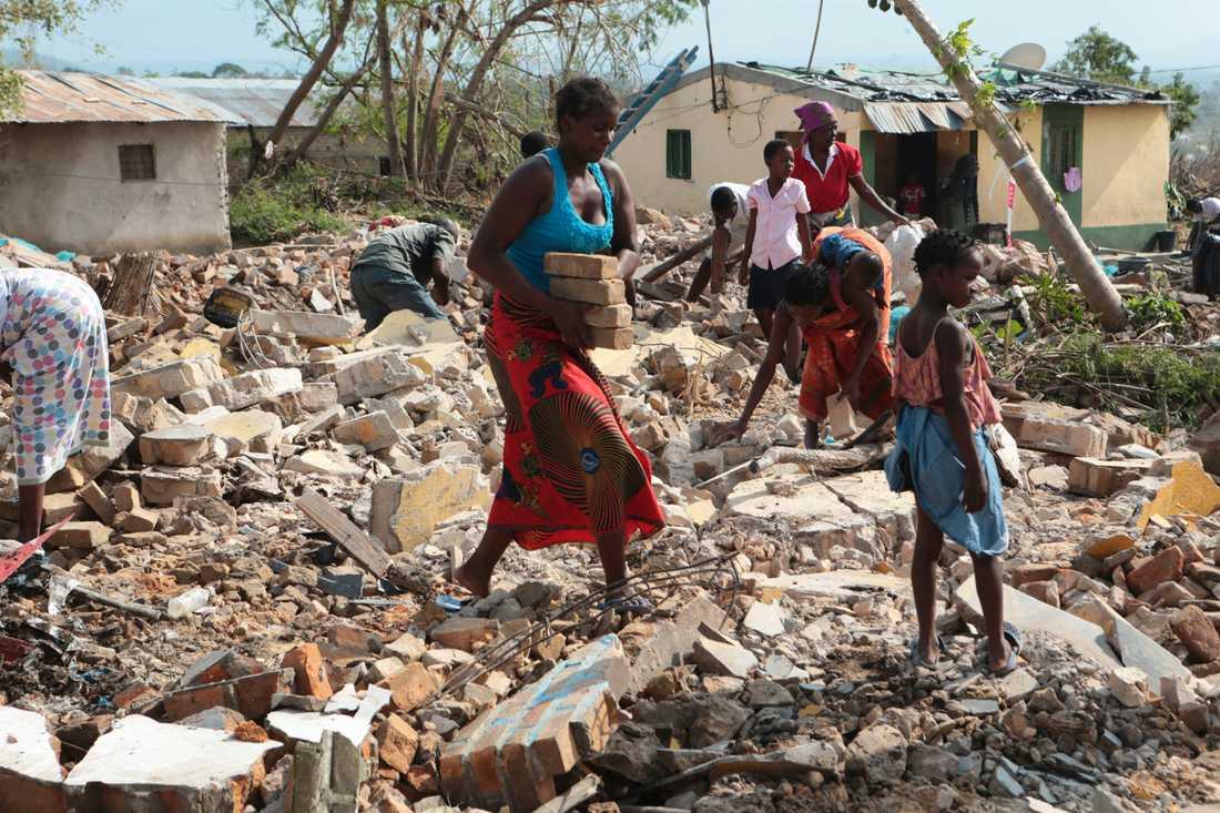 Katastrof i Moçambique.