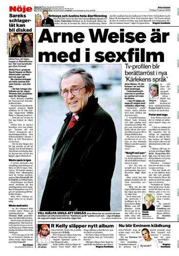 Aftonbladet 10 januari. I filmen kommer även Arne Weise att medverka som berättarröst.