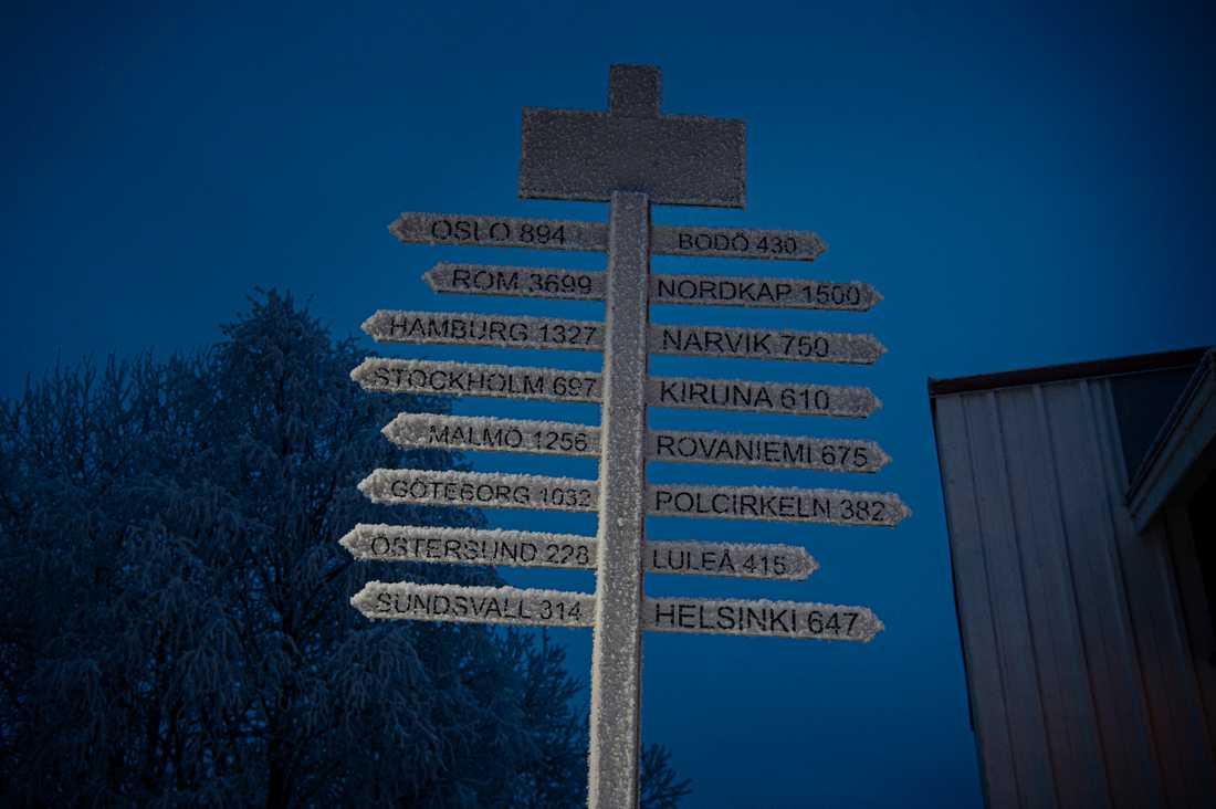Vilhelmina ligger 38 mil från Polcirkeln.
