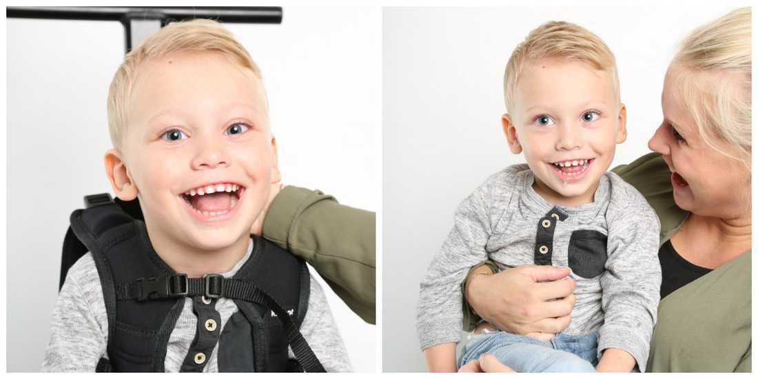 Leon älskar att bli fotograferad, och nu är han fotomodell.
