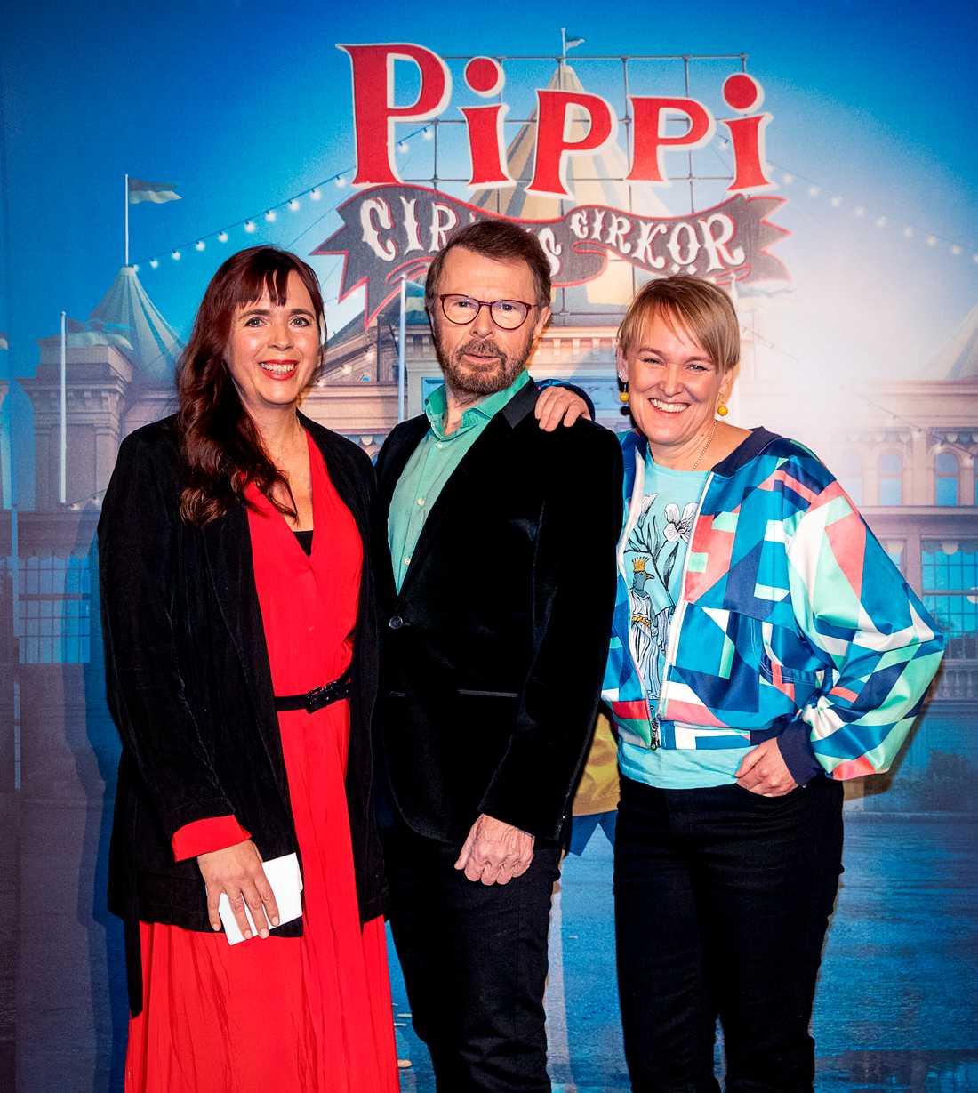 Björn Ulvaeus och Maria Blom är några av de som sätter upp Pippi som musikal på Cirkus.