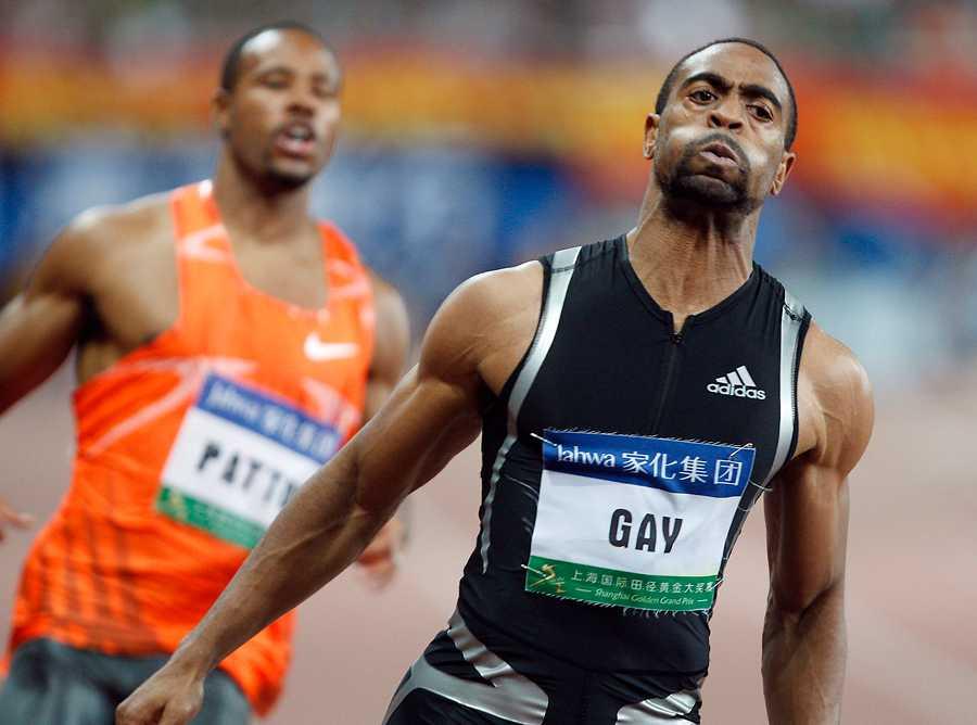 Gay direkt efter att ha satt sitt personliga rekord – 9,69 i Shanghai 2009.