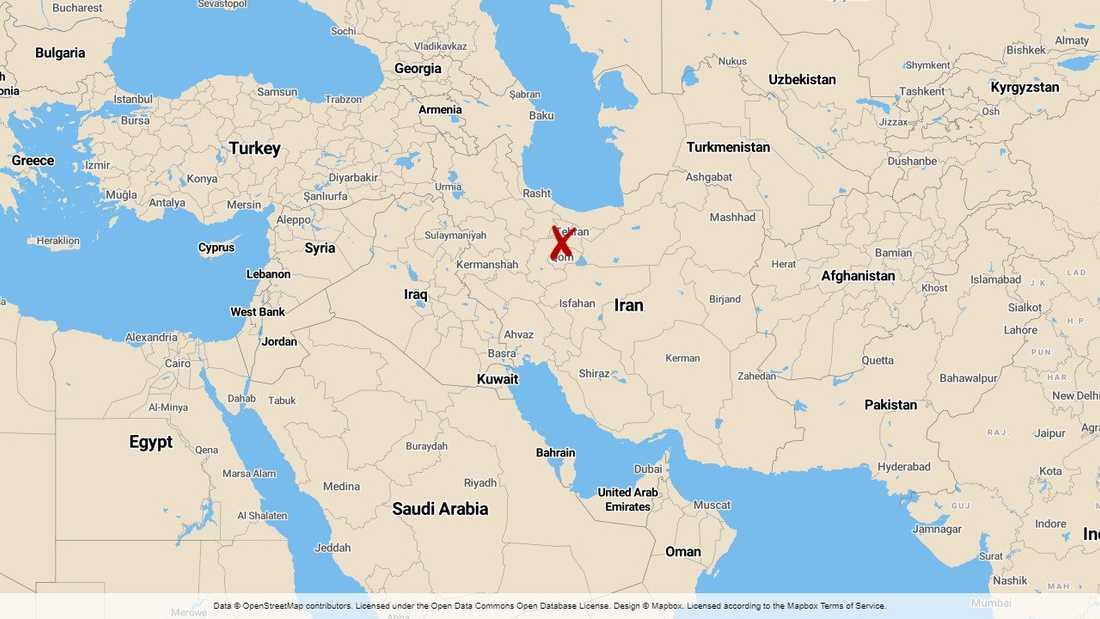 Irans huvudstad Teheran.