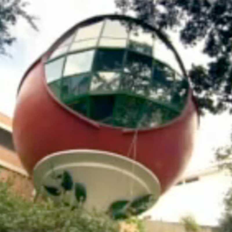 bollformat hus i Brasilien.