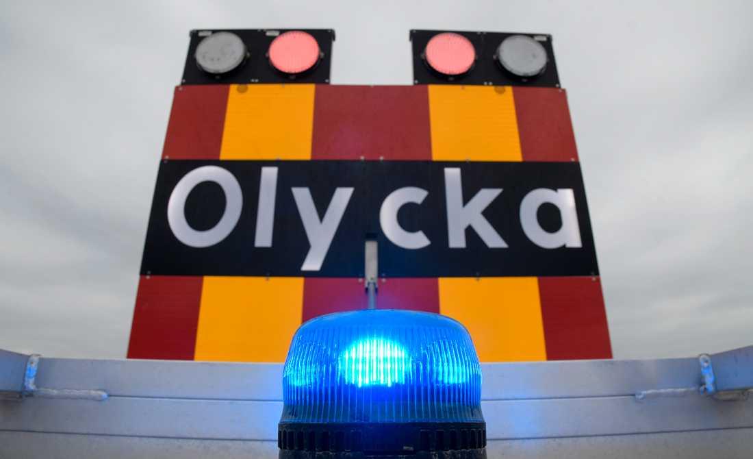 Tre personer har skadats svårt i en frontalkrock på E4 utanför Norrköping. Arkivbild.