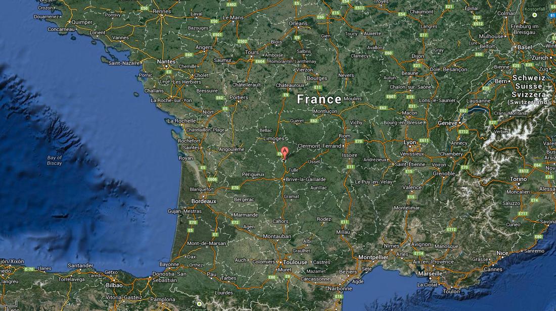 Här i Salon-la-Tour, i centrala Frankrike, greps Vikernes.