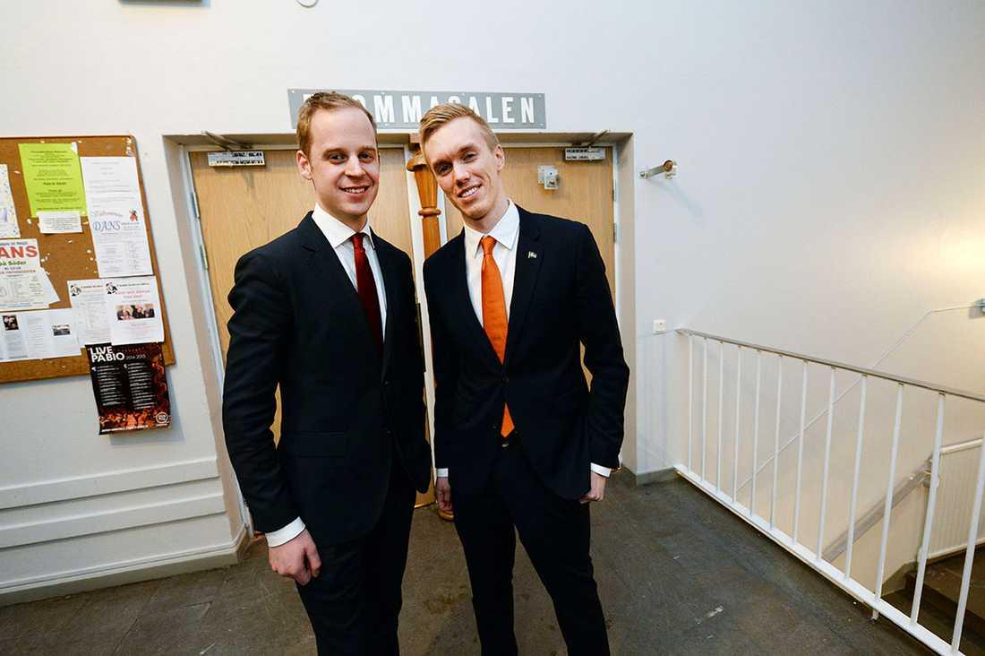 SDU-topparna Gustav Kasselstrand och William Hahne.