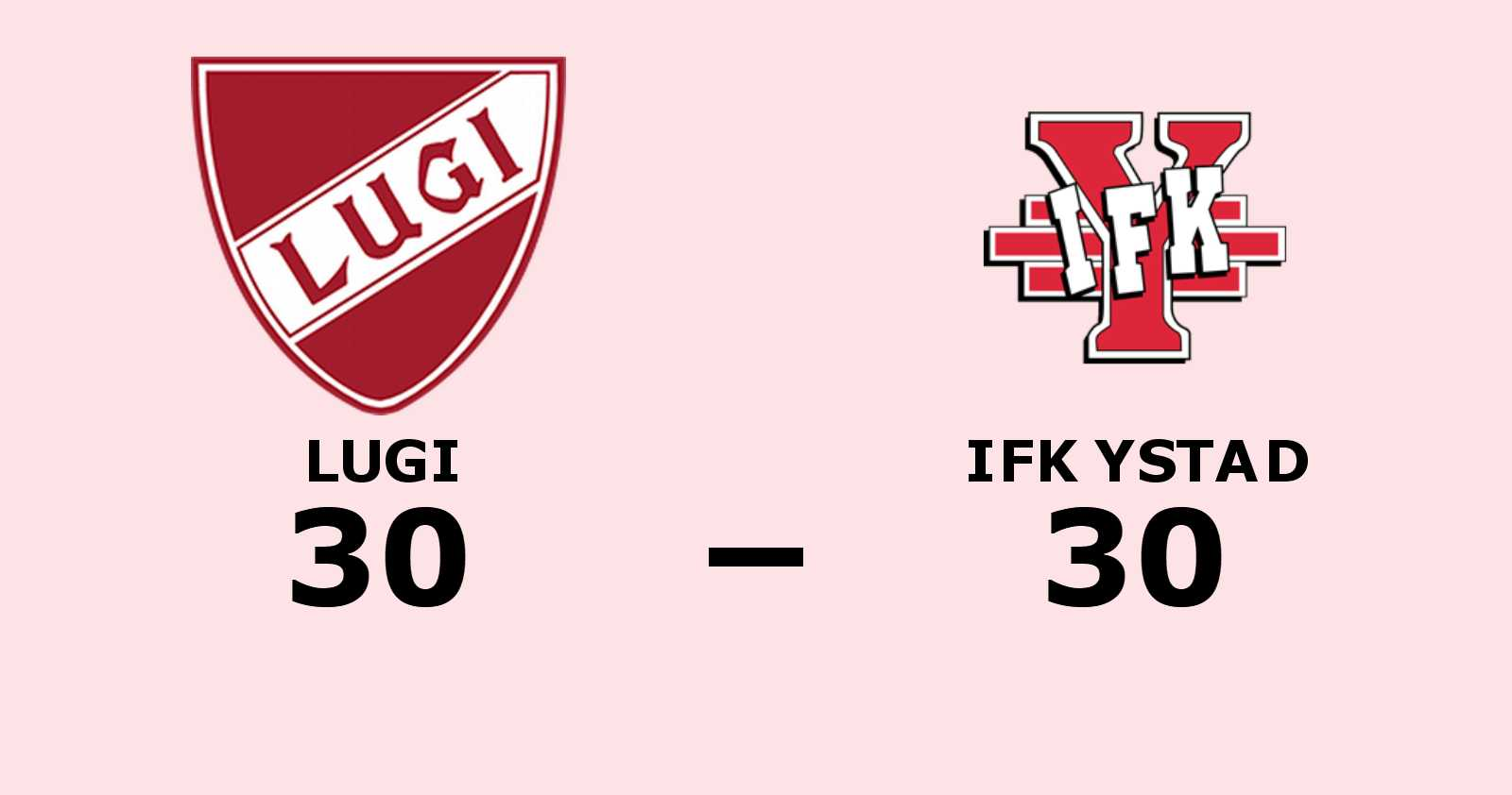Lugi hämtade i kapp underläge och kryssade mot IFK Ystad
