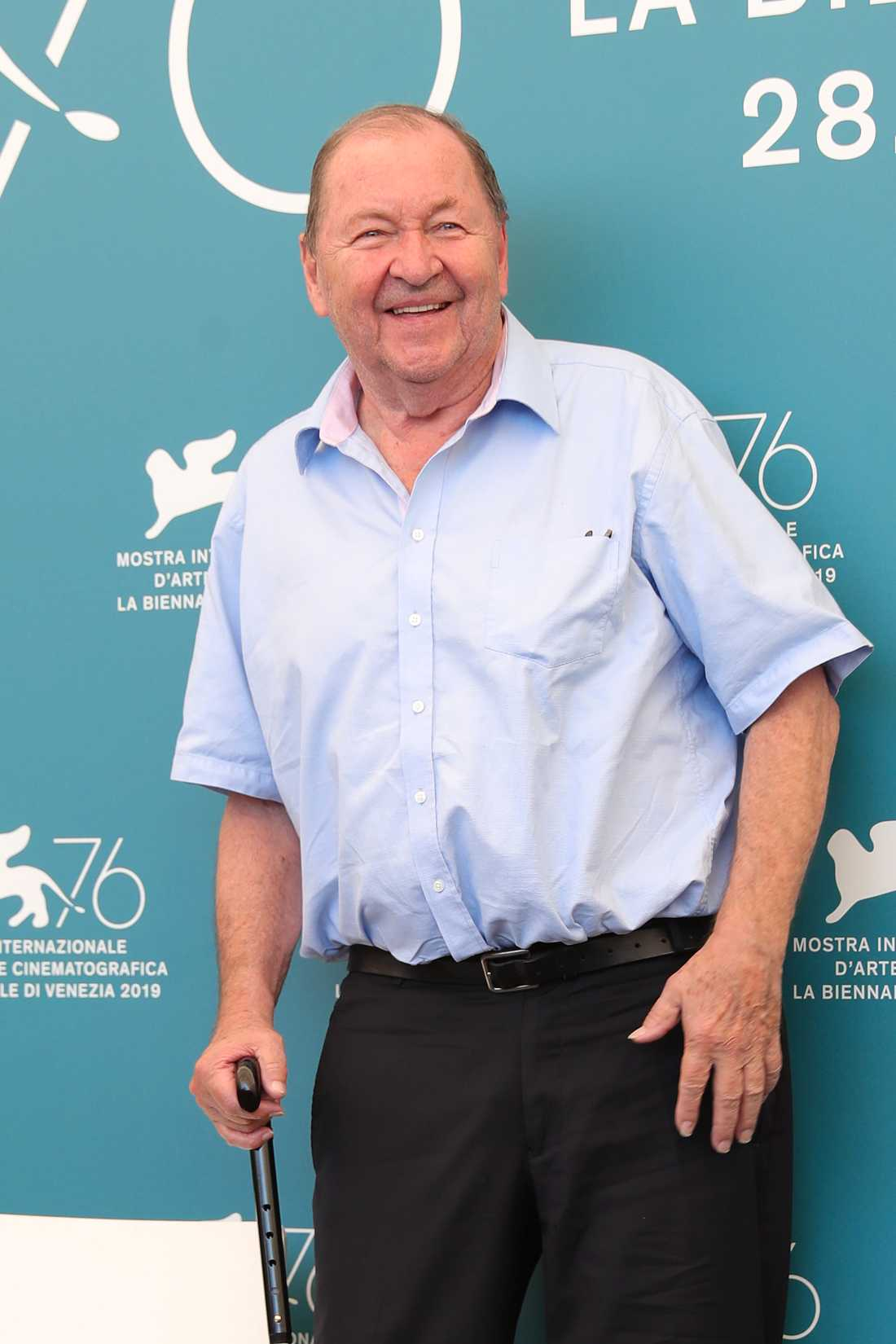 Roy Andersson på filmfestivalen i Venedig.