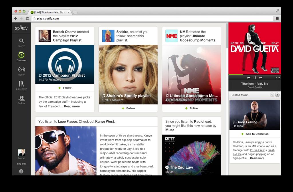 Spotifys egen bild av Spotify Discovery.