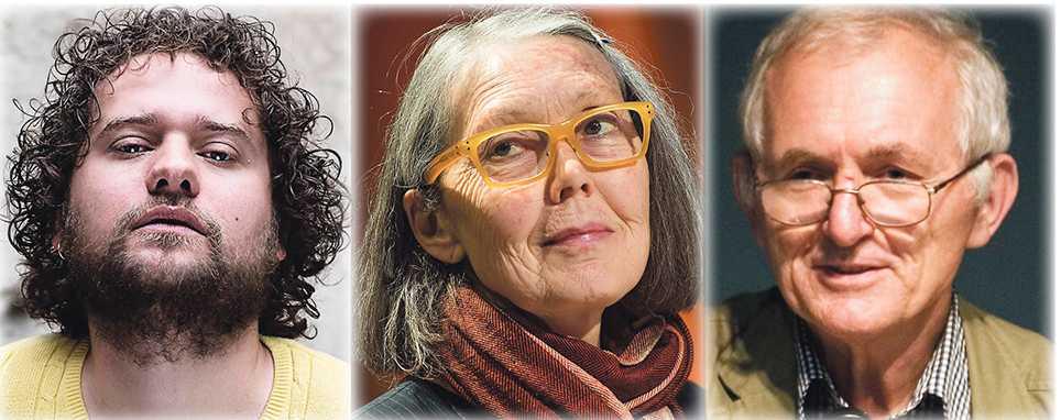 Bjørn Rasmussen, Anne Carson, Bengt af Klintberg.